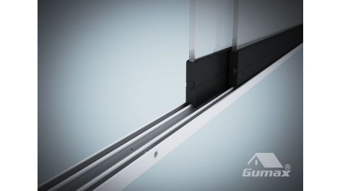 Gumax glazen schuifwand 2-rail close-up