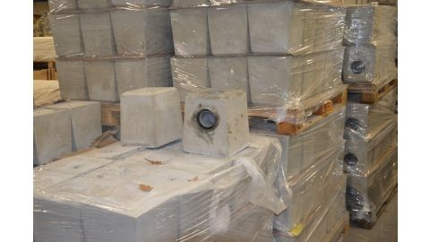 Set 3 betonpoeren waarvan 1 met HWA