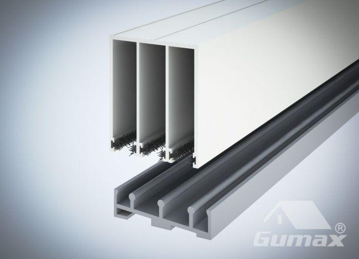 Schuifdeuren Met Railsysteem.3 Railsysteem Glazen Schuifdeuren In Creme Uitvoering Exclusief