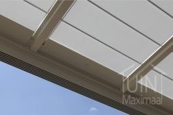 Gumax® elektrische zonwering in mat creme close-up