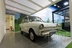 Moderne Gumax® aluminium Carport in mat creme