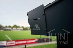 Klassieke Gumax® Terrasoverkapping in mat antraciet