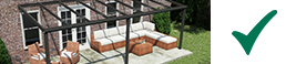 terrasoverkapping mat antraciet glazen dak