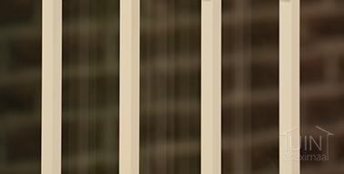 gumax sierstrips glazen schuifwand in mat creme